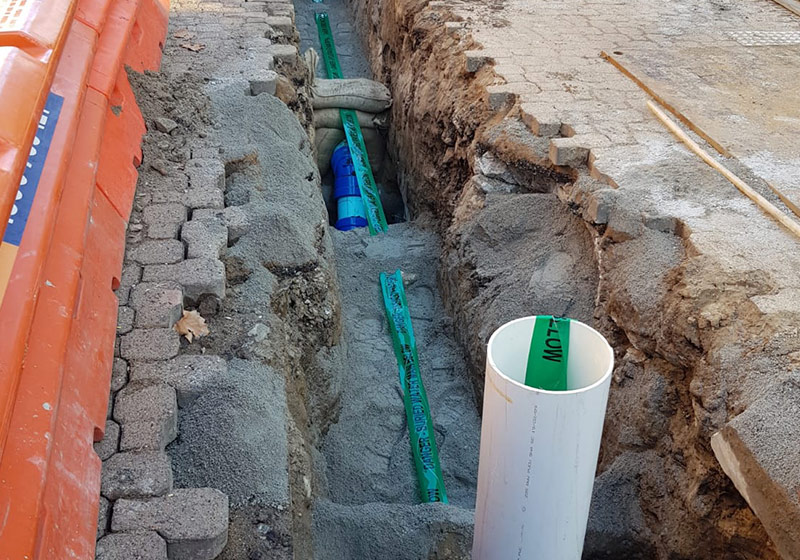 Construction of new water pipelines